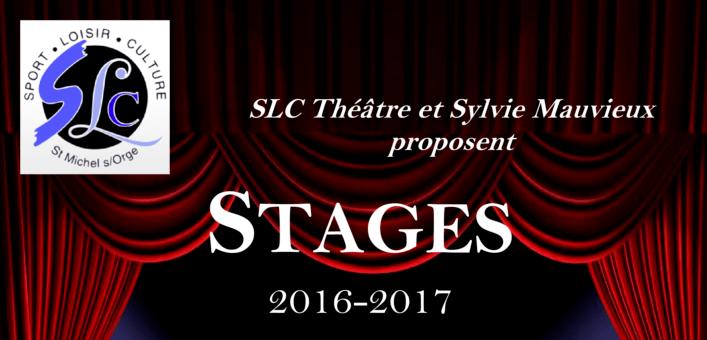 Stage de Théâtre enfants et adultes avec l'association SLC (Saison 2016/2017)