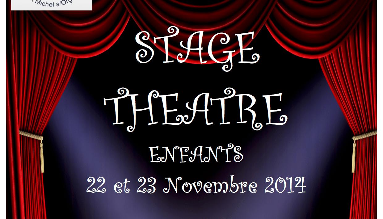 Stages théâtre SLC en novembre