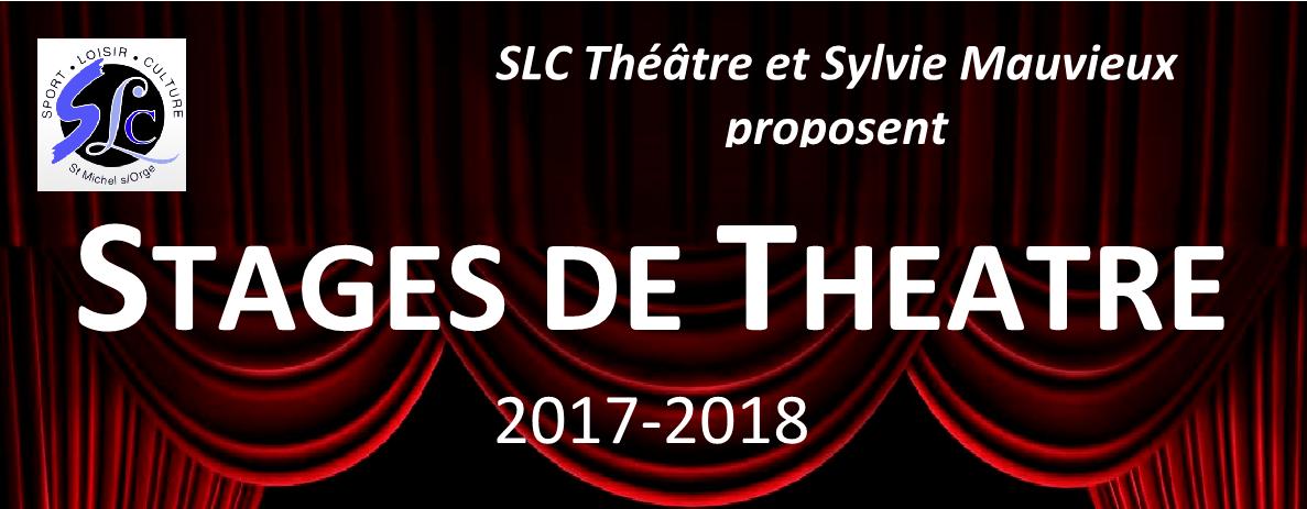 Stage de Théâtre enfants et adultes avec l'association SLC (Saison 2017/2018)